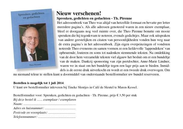 Boekje Theo Pirenne
